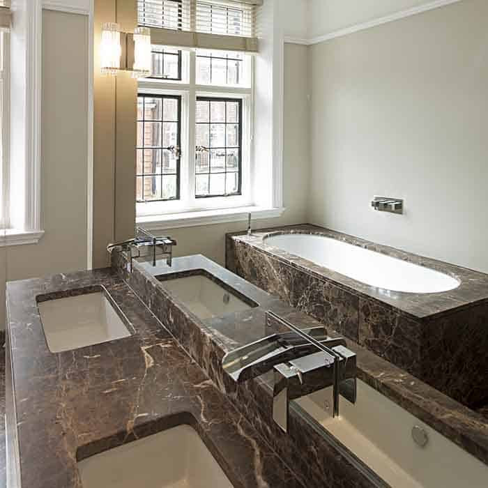 Federation Vanities For Bathrooms: Bespoke Marble Bath Surrounds