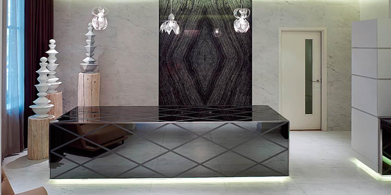 Kenya Black marble book-matched 4 ways