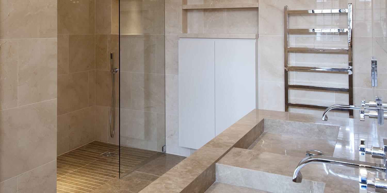 Bespoke cut to size Light Emperador marble tiles