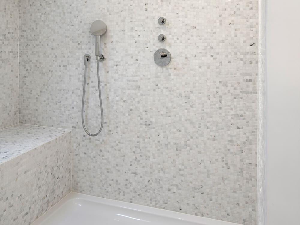 Old White Carrara Bianco mosaics